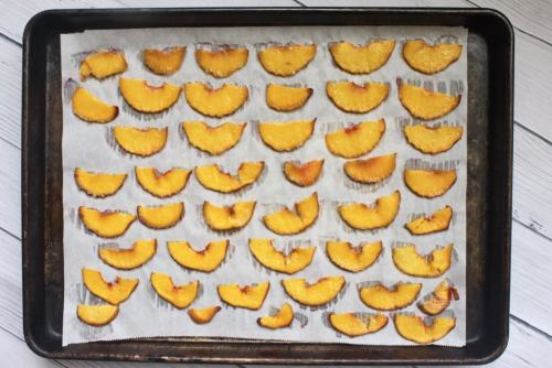 sliced peaches to make oven dried paleo peach chips