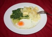 Iglo Spinach Copycat Version with Potatoes and Egg.