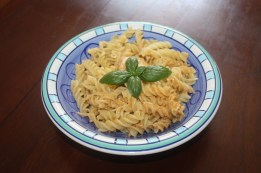 Pasta and Pesto alla Siciliana.