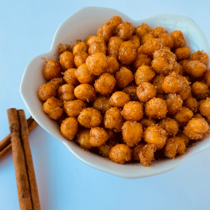 Cinnamon and Sugar Crispy Chickpeas