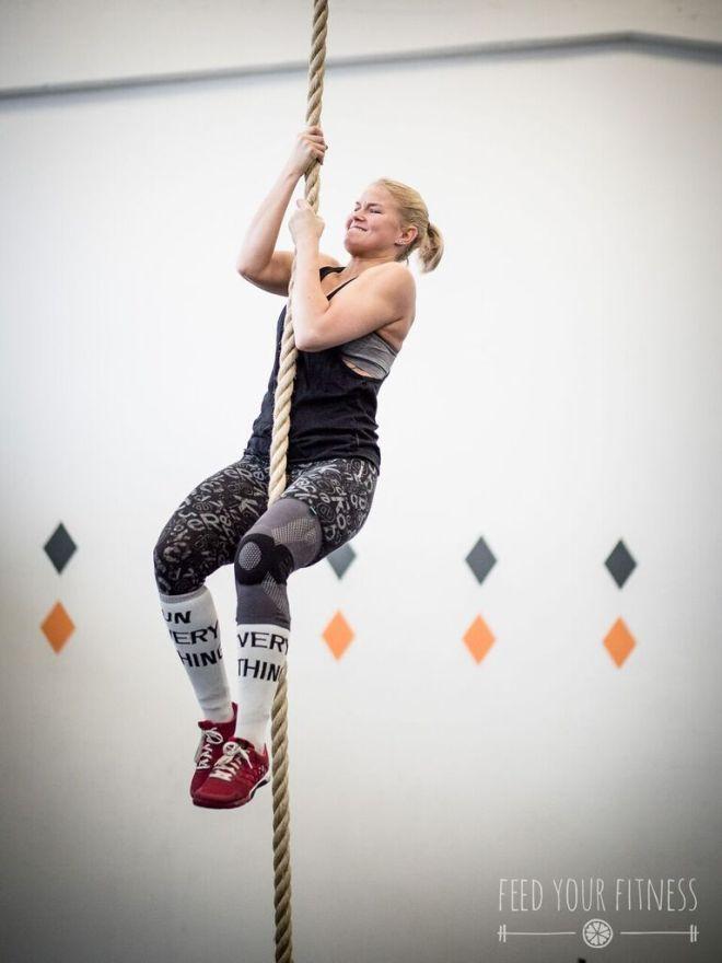 Valentinstag CrossFit Rope Climbing