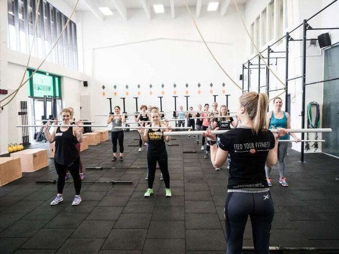 CrossFit Bloggertreffen von FEED YOUR FITNESS Coaching Push Press