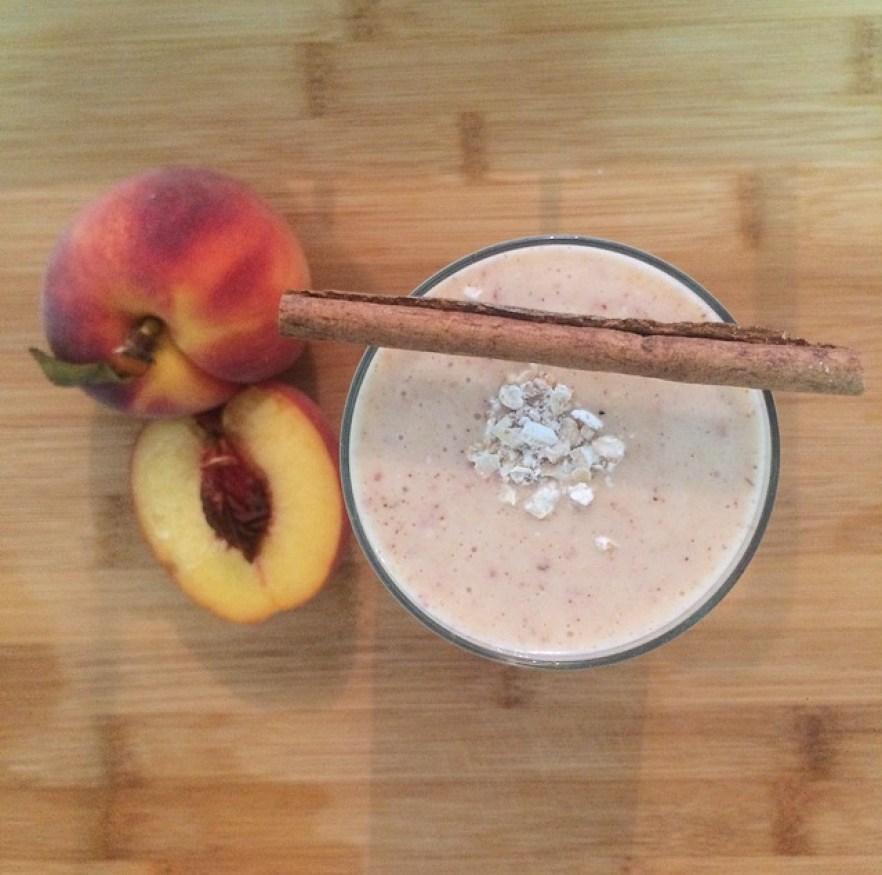 My peach & cinnamon smoothie