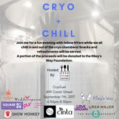 Feed Your sister Cryo + chill event