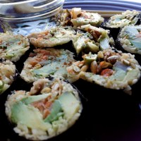 Raw Vegan Parsnip Rice Nori Rolls