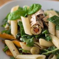 Swiss Chard and Yellow Pepper Pasta Salad