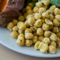 Quick & Tasty Chickpeas, Garlic-Italian Style