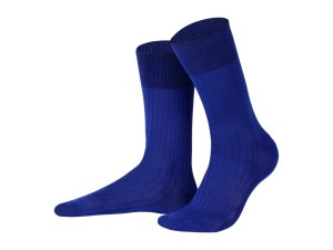 Rapport socks, Egyptian cotton (sapphire), Luxury collection