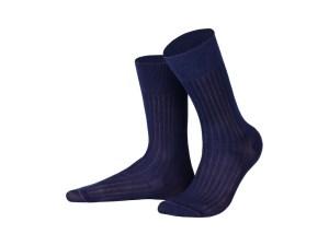 Шкарпетки рапорт з єгипетської бавовни (темно-синій), колекція Luxury