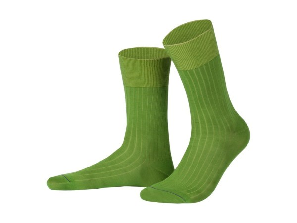 Rapport socks, Egyptian cotton (grass green), Luxury collection