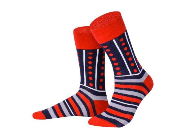 "Socks ""Blue-red stripes"", Creative collection"
