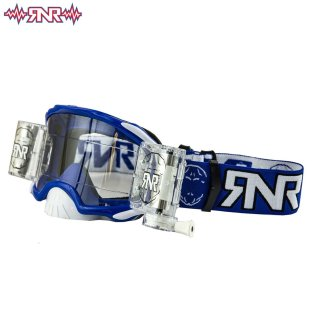RNR Adult Platinum Wide Vision Roll Off Goggles Blue