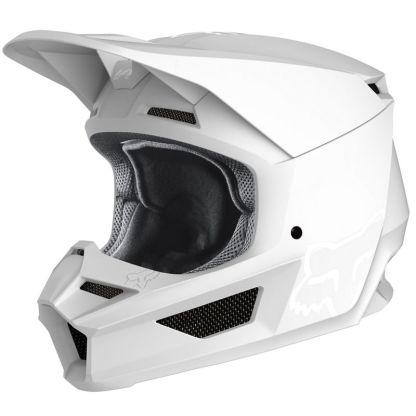 Fox V1 Przm Camo Helmet White Adult Front