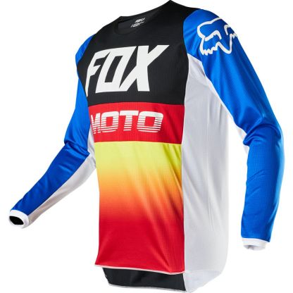 Fox 180 FYCE Jersey Youth Blue/Red Front