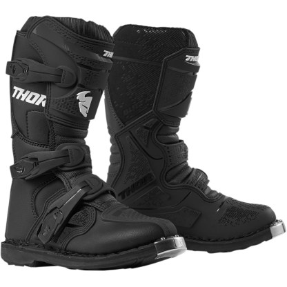 Thor Blitz XP Black Motocross Boots Youth