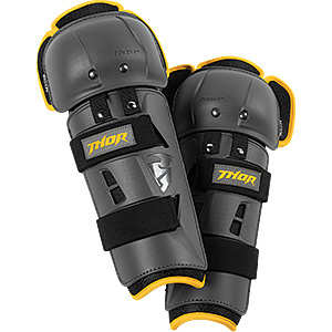 Thor Sector GP Knee Guards Charcoal/Yellow Adult
