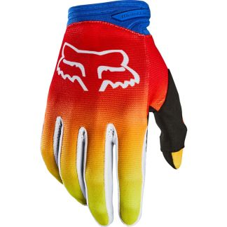 Fox Dirtpaw FYCE Blue/Red Youth Gloves