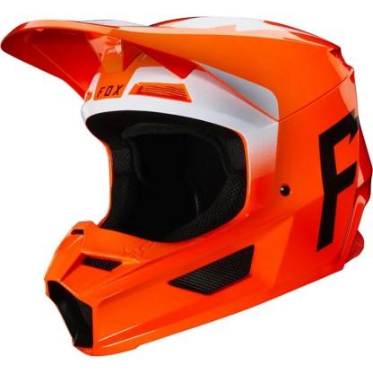 Fox V1 Werd Helmet Fluorescent Orange Adult Left Side