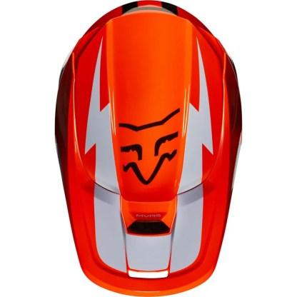 Fox V1 Werd Helmet Fluorescent Orange Adult Top