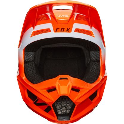 Fox V1 Werd Helmet Fluorescent Orange Adult Front