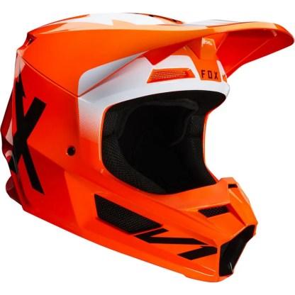 Fox V1 Werd Helmet Fluorescent Orange Adult Right Side