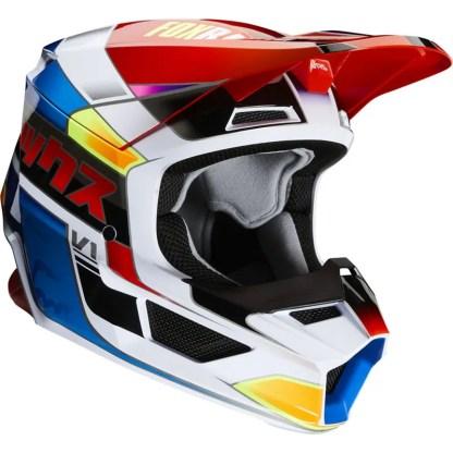 Fox V1 Yorr Helmet Blue/Red Youth