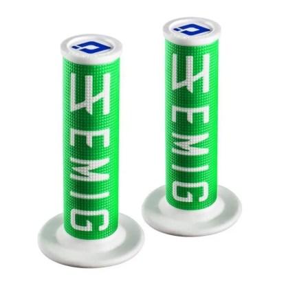 ODI EMIG Racing Lock-on Grip Set Green