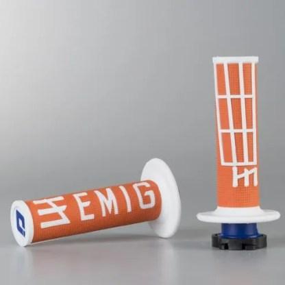 ODI EMIG Racing Lock-on Grip Set Orange/White