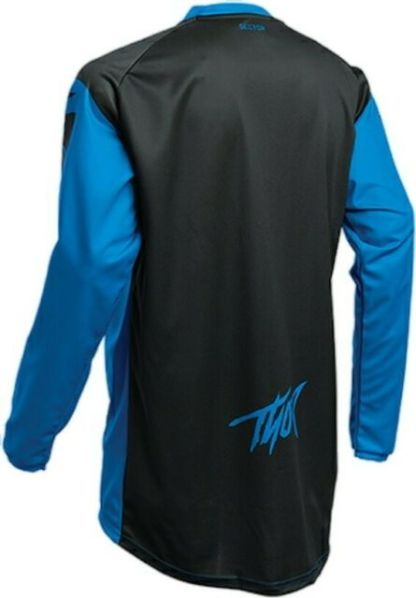Thor Sector Link Jersey Blue/Black Youth Back