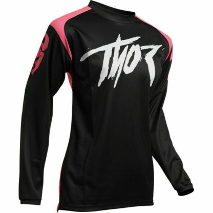 Thor Sector Link Jersey Black Pink Youth
