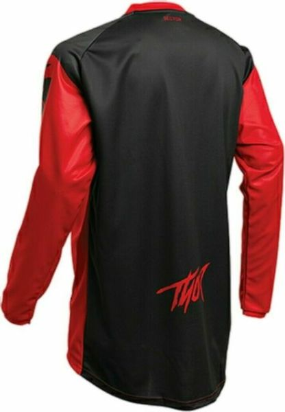 Thor Sector Link Jersey Red/Black Youth Back