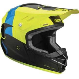 Thor Sector Shear Helmet BLACK ACID Youth