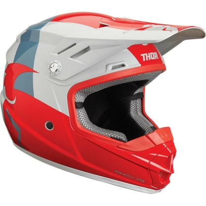 Thor Sector Shear Helmet Red/Light Grey Youth