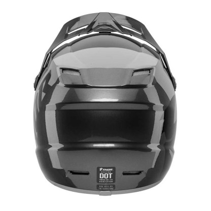 Thor Sector Shear Helmet BLACK CHARCOAL Youth Back