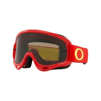 Oakley O Frame MX Goggle Adult (Red Yellow) Dark Grey Lens