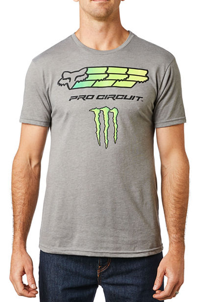 Fox Monster Pro Circuit T-Shirt Heather Graphite