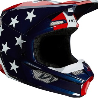 Fox V1 ULTRA Adult Helmet White, Red, Blue