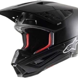 ALPINESTARS SM5 SOLID MOTOCROSS HELMET BLACK MATTE ADULT2