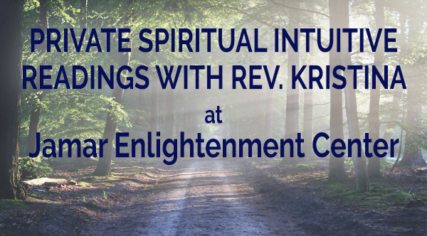 Private Readings Every Friday (Nov. 9th, 16th, 23rd & 30th) from 2 pm – 6 pm in November at Jamar Enlightenment Center