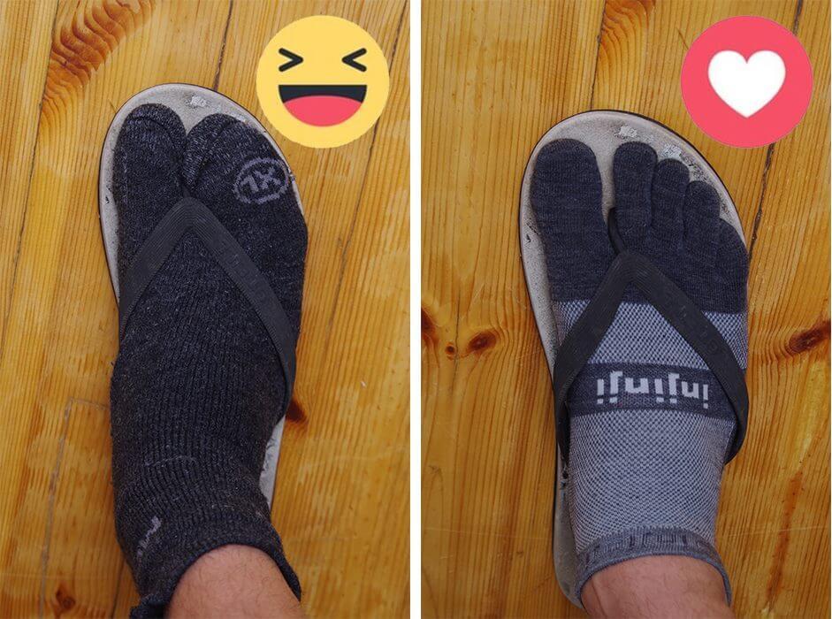 toe socks comfortable