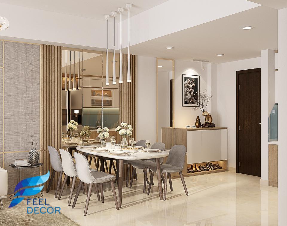 thiết kế thi công nội thất căn hộ 95m2