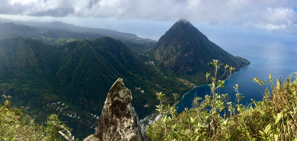 Panorama from the Top of Petit Piton