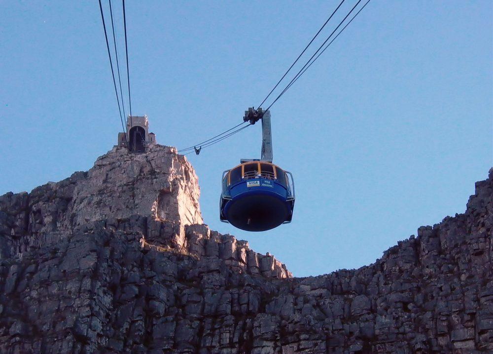 Gondola leading up to Table Mountain