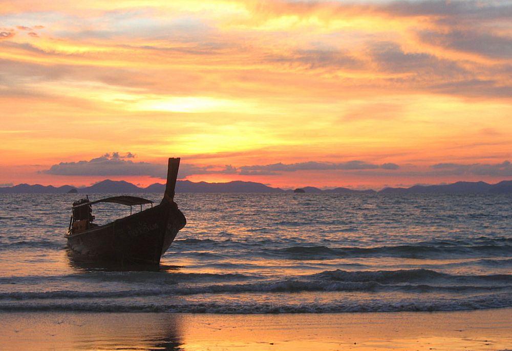 Sunset in Krabi, Thailand