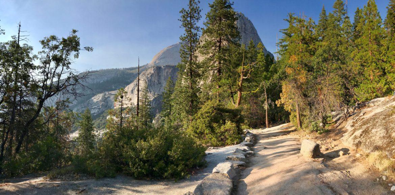 John Muir Trail near Liberty Cap and Nevada Fall