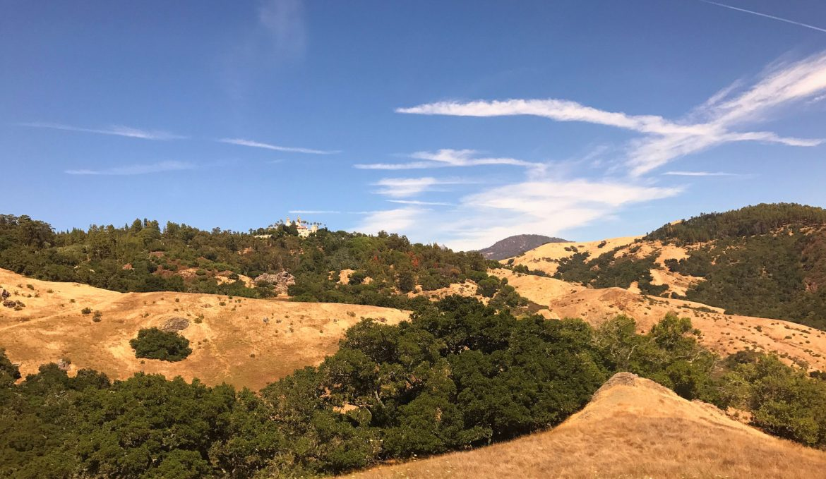 View of Hearst Castle on Top of The Hill