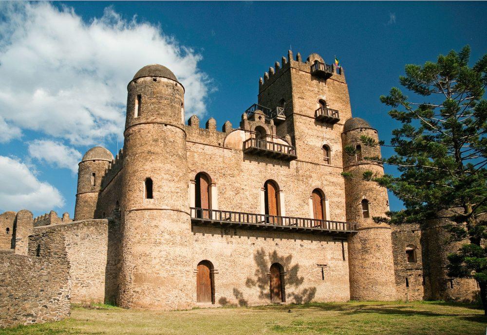 Gondar Castle in Gondar, Ethiopia