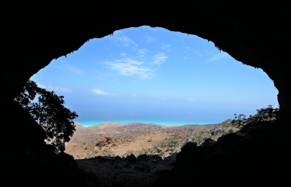Entrance to Hoq Cave on Socotra Island