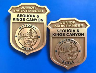 Junior Ranger badges from Sequoia & Kings Canyon National Parks