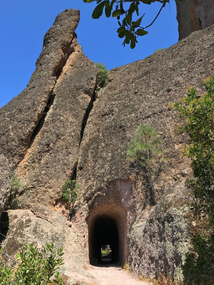 Tunnel at Tunnel Trail in Pinnacles National Park